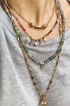 bindi bead necklace lemon quartz amethyst rose calcy iolite and rainbow moonstone wish paris jewellery