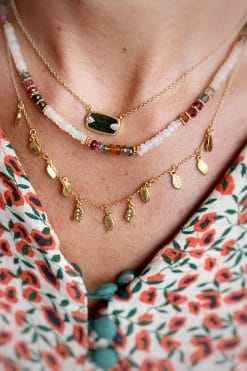 ruthy bead necklace white opal and tourmaline wish paris jewellery
