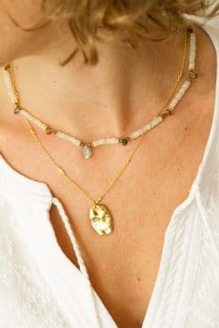 lilou bead choker necklace white opal tourmaline wish paris jewellery