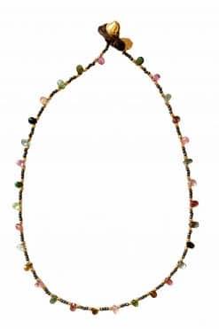 cybille bead choker necklace pyrite and tourmaline wish paris jewellery