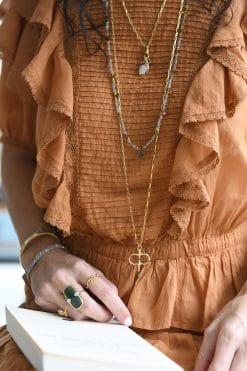 zoe sautoir bead necklace labradorite and tourmaline wish paris jewellery