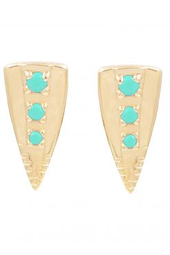 silan gemstone stud earrings turquiose wish paris jewellery