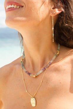 fluo bead necklace fluorite wish paris jewellery