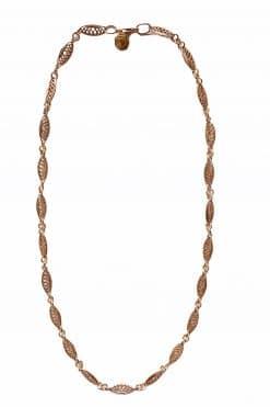 margot short necklace vintage solid gold wish paris jewellery