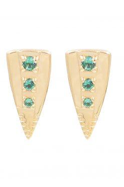 silan gemstone stud earrings green onyx wish paris jewellery