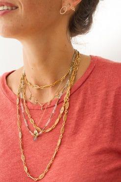 margot sautoir vintage necklace solid gold wish paris jewellery