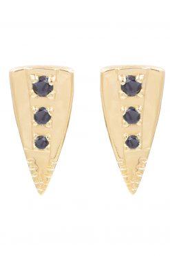 silan gemstone stud earrings black onyx wish paris jewellery