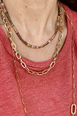 mina necklace solid gold wish paris jewellery