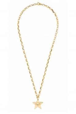 louise choker pendant necklace solid gold wish paris jewellery