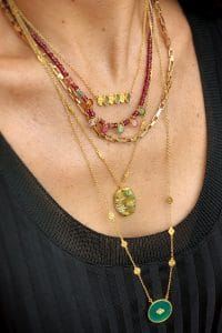 coco necklace solid gold wish paris jewellery