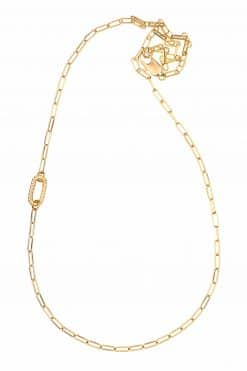 prune sautoir chain necklace solid gold wish paris jewellery