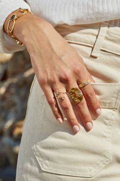sitara maxi gemstone ring white zircons wish paris jewellery