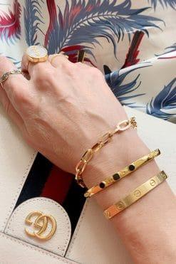 mina chain bracelet solid gold wish paris jewellery