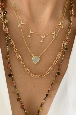 necklace gold crystal mls 584 gold cristal wish paris jewellery