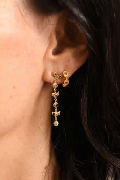 long earrings gold tourmalines mls 588 gold multico wish paris jewellery