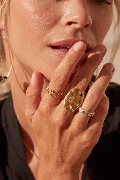 sitara maxi gemstone ring black zircons wish paris jewellery