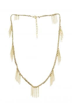 fringed necklace gold vintage mls 651 gold grey wish paris jewellery