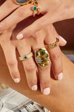 sitara maxi gemstone ring green zircons wish paris jewellery