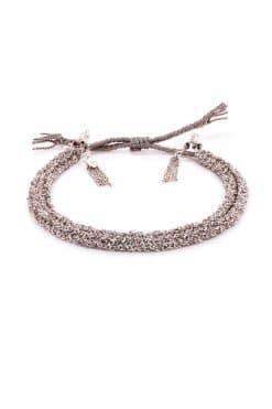 woven bracelet silver grey mls 183 silver grey wish paris jewellery