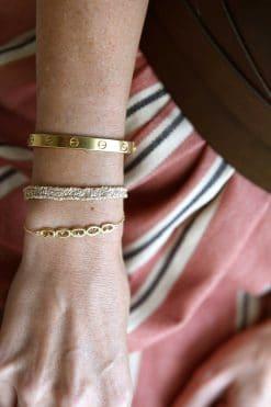 woven bracelet gold nude mls 183 gold nude wish paris jewellery