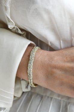 woven bracelet gold grey mls 183 gold grey wish paris jewellery