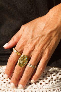 sitara maxi gemstone ring turquoise wish paris jewellery