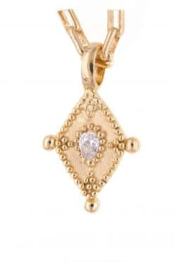 tatish necklace chain with a pendant zircon solid gold wish paris jewellery