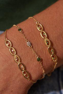sitara chain gemstone bracelet aventurine wish paris jewellery