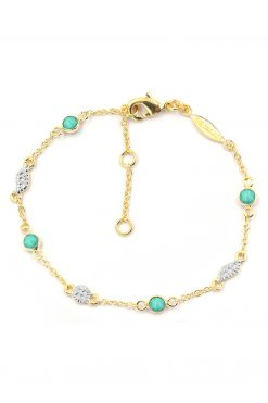 sitara chain gemstone bracelet turquoise wish paris jewellery