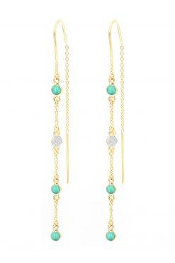 sitara pendant gemstone earrings turquoise wish paris jewellery