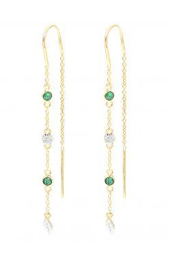 sitara pendant gemstone earrings aventurine wish paris jewellery