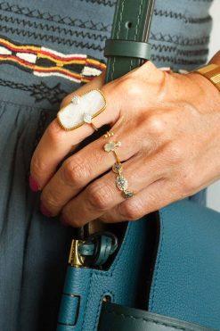 sangha maxi gemstone ring moonstone wish paris jewellery