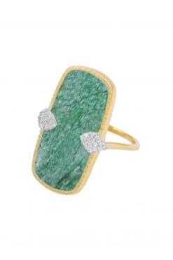 sangha maxi gemstone ring aventurine wish paris jewellery