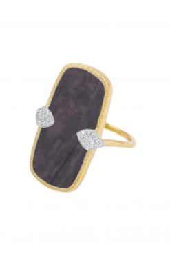 sangha maxi gemstone ring black onyx wish paris jewellery