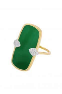 sangha maxi gemstone ring green onyx wish paris jewellery