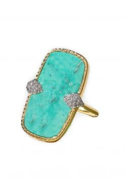 sangha maxi gemstone ring turquoise wish paris jewellery