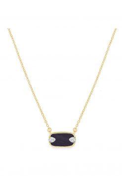 sangha gemstone necklace black onyx wish paris jewellery