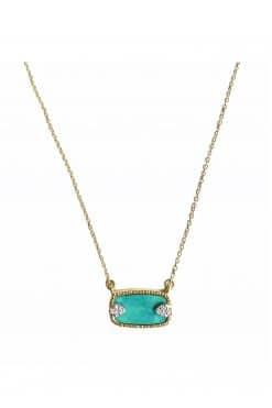 sangha gemstone necklace turquoise wish paris jewellery