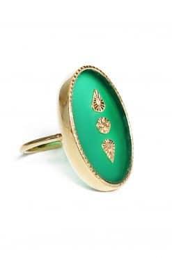 lana maxi gemstone ring green onyx wish paris jewellery