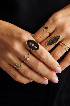 lana maxi gemstone ring black onyx wish paris jewellery