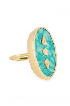 lana maxi gemstone ring turquoise wish paris jewellery