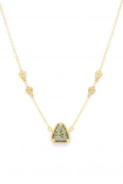 macha gemstone necklace labradorite gold foil wish paris jewellery