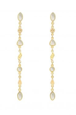 macha gemstone pendant earrings mother of pearl wish paris jewellery