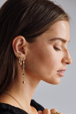 macha gemstone pendant earrings black onyx wish paris jewellery