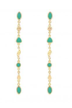 macha gemstone pendant earrings turquoise wish paris jewellery