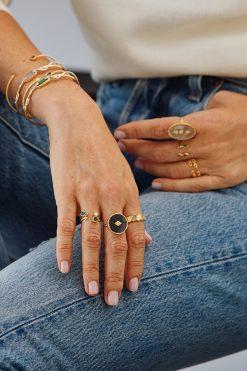 sanja gemstone maxi ring black onyx wish paris jewellery