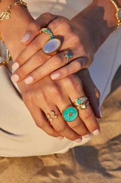 sanja gemstone maxi ring turquoise wish paris jewellery