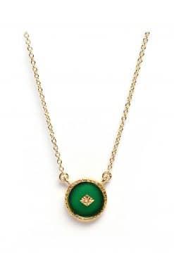 sanja gemstone necklace green onyx wish paris jewellery