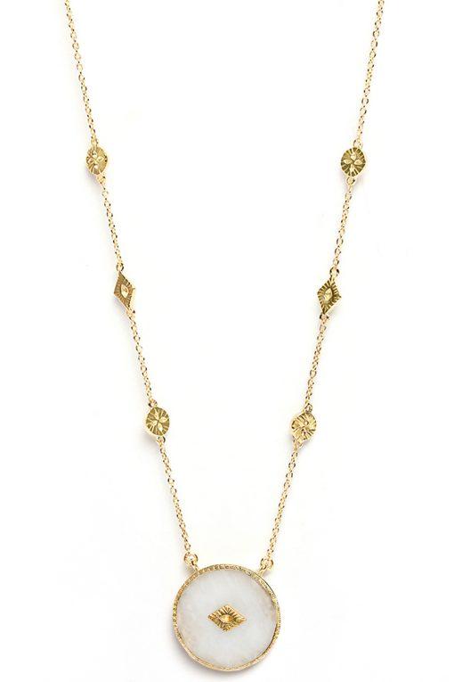 sanja gemstone sautoir necklace moonstone wish paris jewellery