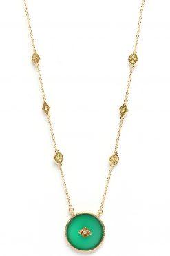 sanja gemstone sautoir necklace green onyx wish paris jewellery